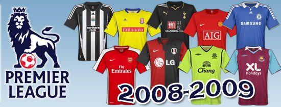 Divise Premier League 2008-2009