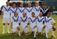 Il Brescia 2009-2010 prima di un'amichevole