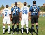 Il retro delle nuove maglie dell'Inter 2009-2010