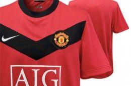 La nuova maglia home del Manchester 2009-2010