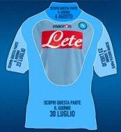 Una parte della nuova maglia del Napoli