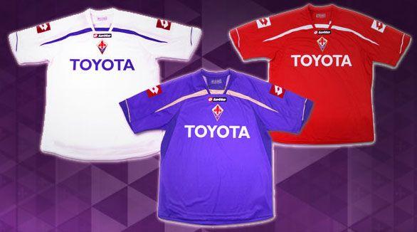 Le tre nuove maglie ufficiali della Fiorentina 2009-2010