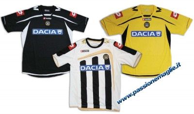 Le tre nuove maglie dell'Udinese 2009-2010