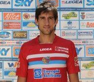 Spolli con la terza maglia Catania 2009-2010