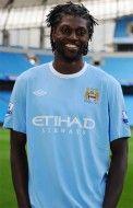 Adebayor con la nuova maglia del City 09-10