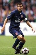 Fabregas in azione con la seconda maglia dell'Arsenal 2009-2010