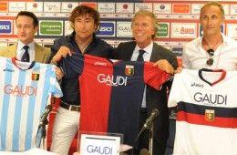 Le nuove maglie del Genoa 2009-2010 con lo sponsor Gaudì