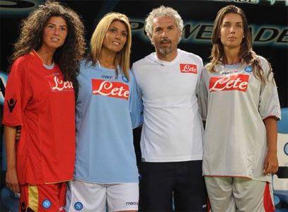 Le nuove maglie del Napoli 2009-2010