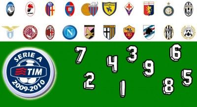 Numeri di maglia Serie A 2009-2010