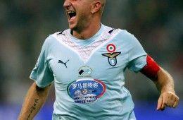 Rocchi esulta in Inter-Lazio dopo il secondo gol