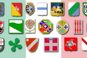 Stemmi regioni Italia