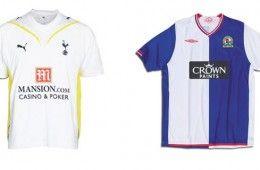Le maglie casalinghe di Tottenham e Blackburn 2009-2010