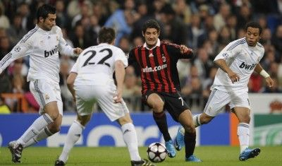 Pato in Real Madrid-Milan di Champions League