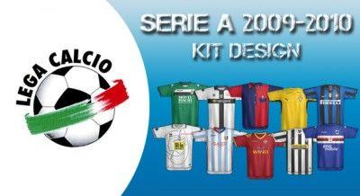 Disegni 2009-2010 delle maglie di Serie A