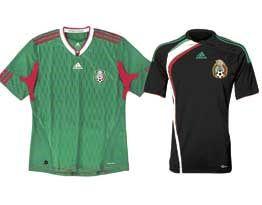 Le nuove maglie del Messico per il 2010