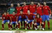 Foto di gruppo prima dell'amichevole con l'Argentina