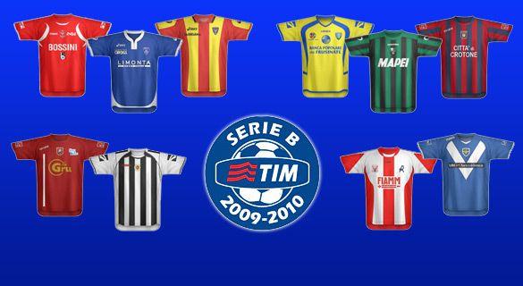Le maglie della Serie B 2009-2010