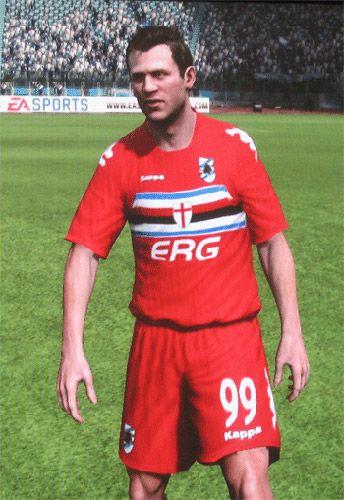 Cassano con la maglia rossa in Fifa 2010