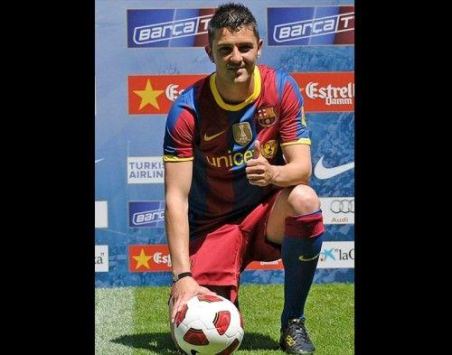 La presentazione di David Villa al Barcellona