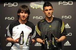 Presentazione adiZero F50 con Messi e Villa