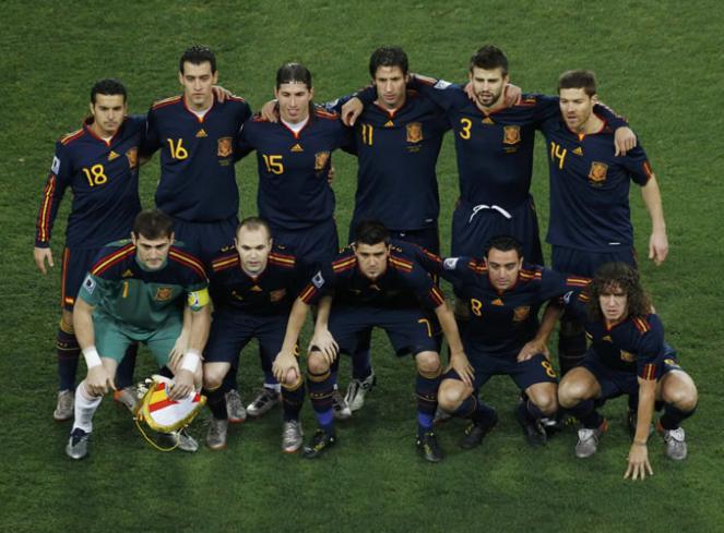 Squadra Spagna campione del mondo