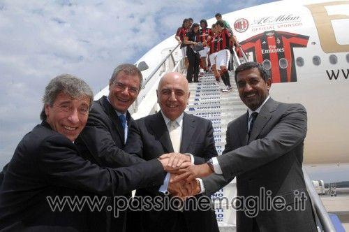 Stretta di mano comune per Milan, SEA, Adidas e Fly Emirates