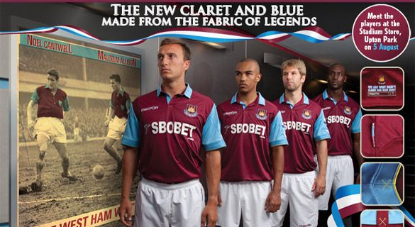 Kit home West Ham
