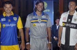 Le tre maglie del Parma 2010-2011