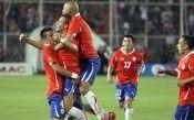 Festeggiamento dopo l'1-0 del Cile