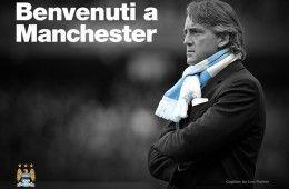 Roberto Mancini con il City