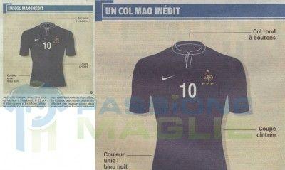 Disegno maglia Francia Nike 2011