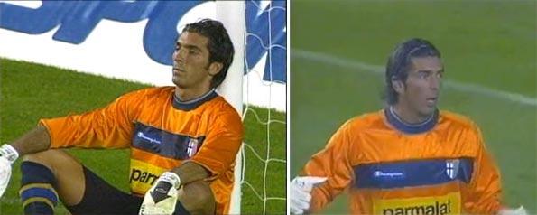 Maglia arancione Buffon in Rangers-Parma