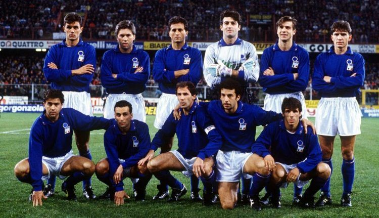Maglia Italia 1991 nuovo logo FIGC