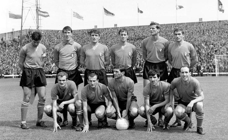La maglia dell'Italia ai Mondiali 1966