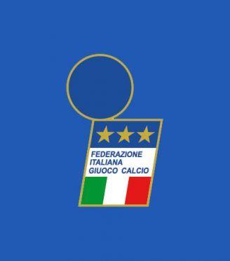 """Logo Italia FIGC 1991-92 """"i"""" stilizzata"""