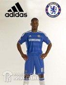 Drogba con la maglia del Chelsea