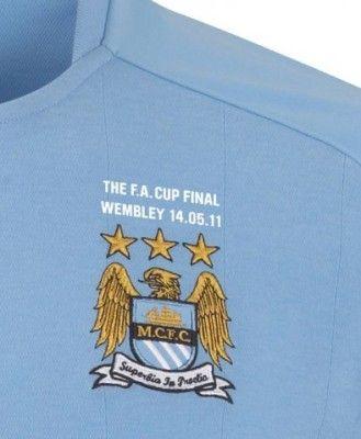 Ricamo celebrativo finale di FA Cup maglia del Manchester City