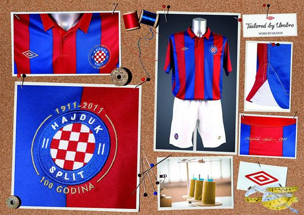 Kit away dell'Hajduk Spalato 2011-2012