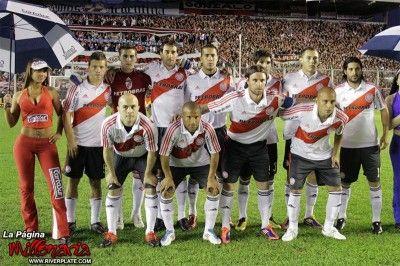 Formazione del River Plate nella partita contro il Deportivo Merlo