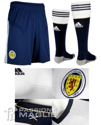 Scozia calzoncini e calzettoni trasferta 2012-2013