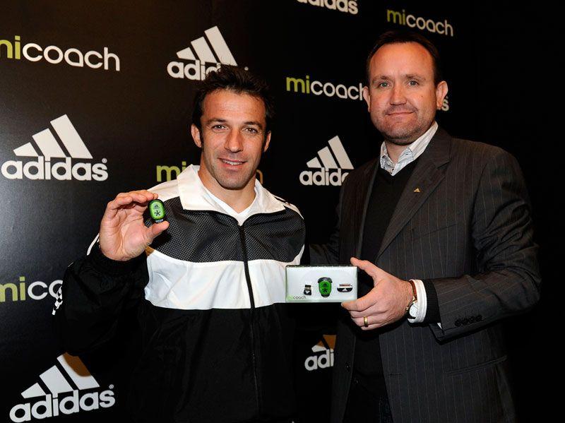 Alex Del Piero con il rivoluzionario sensore adidas miCoach