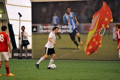 Del Piero con le scarpe Adizero F50