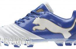 Scarpa da calcio Powercat 1.12 bianca e blu