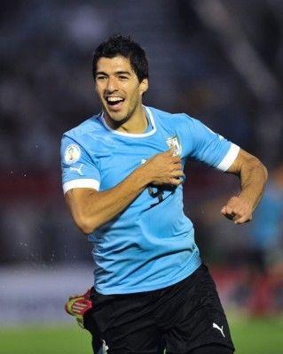 Suarez nella partita Uruguay-Cile