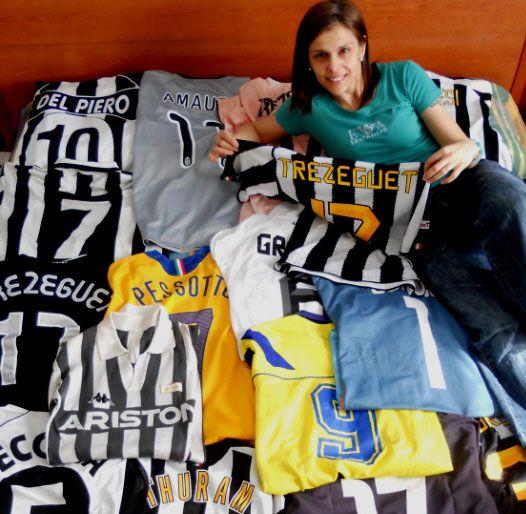 Alessandra Majocchi e la sua collezione di maglie della Juventus
