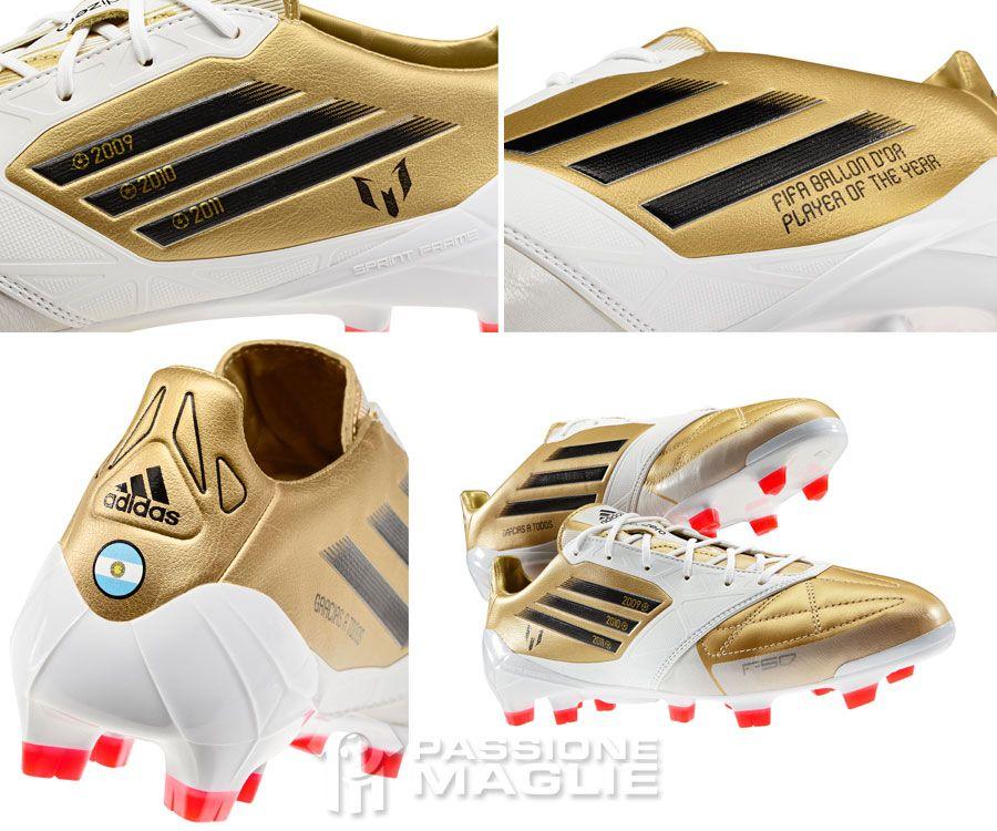 Scarpe Adidas F50 colore oro per Messi