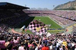 Tifosi del Palermo allo stadio
