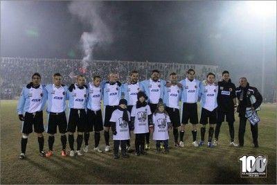 Squadra Alessandria prima del match con il Rimini