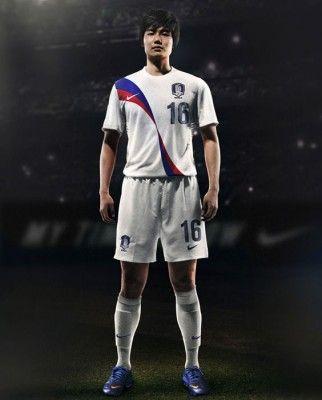 Divisa away Corea del Sud 2012 Nike