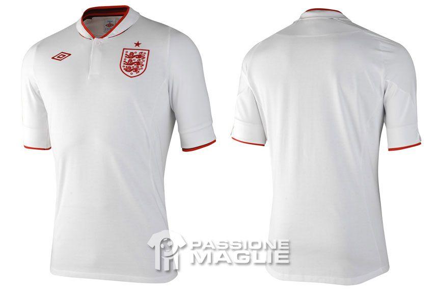 Inghilterra prima maglia 2012 Umbro